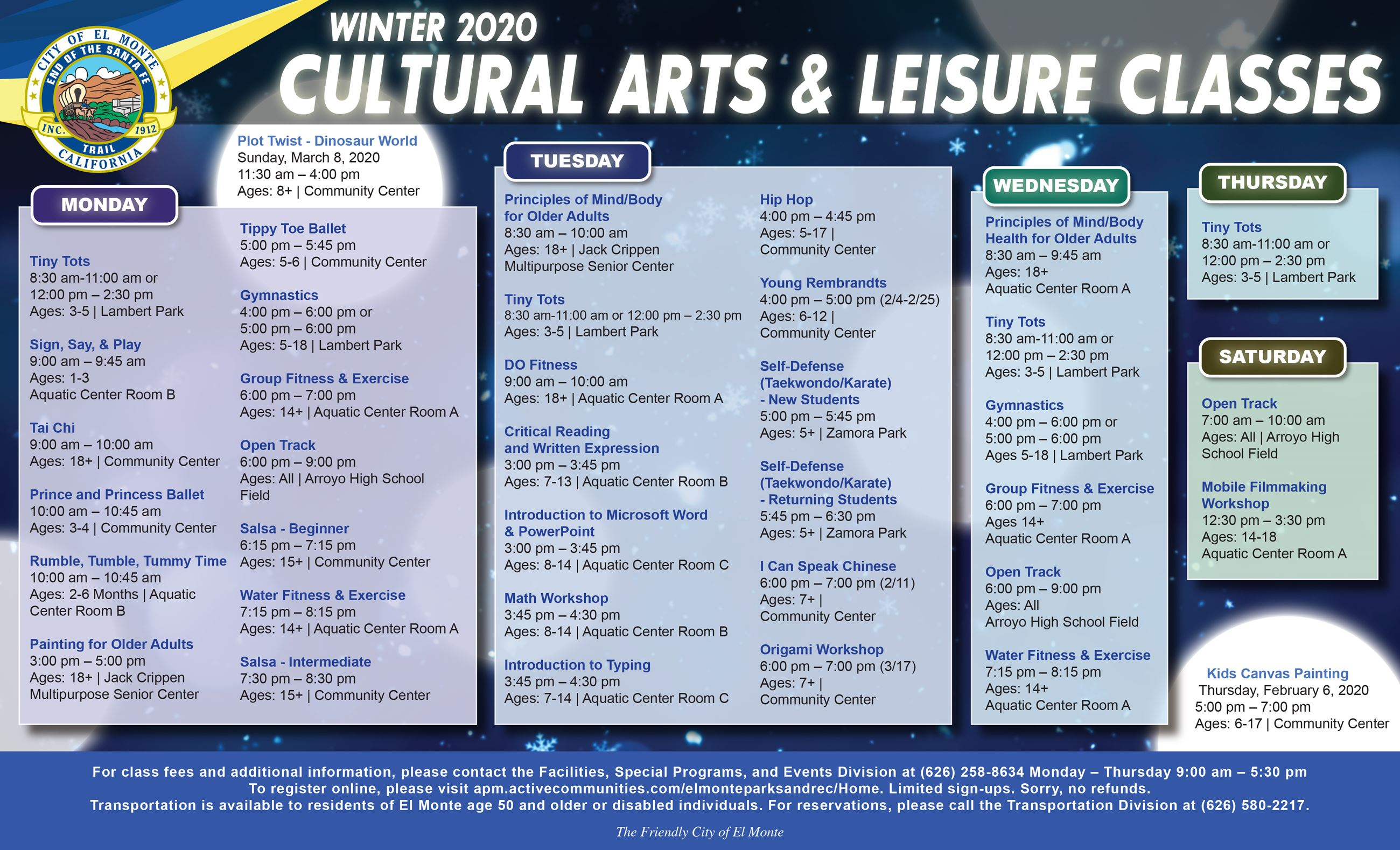 Cultural Arts and Leisure Classes Flyer (Winter 2020) - 111919_edit 11